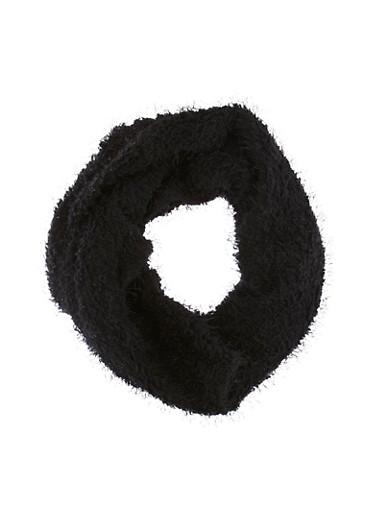 Fuzzy Infinity Scarf,BLACK,large