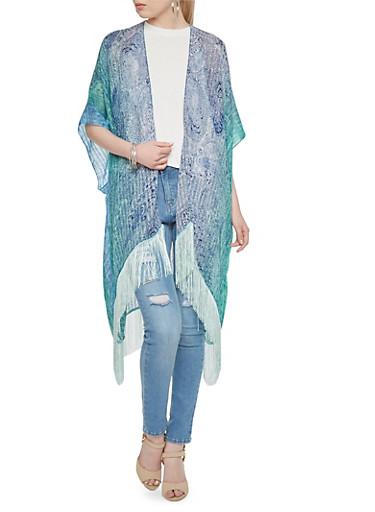 Kimono Scarf in Paisley Print,MINT,large