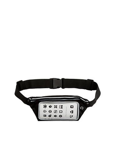 Cell Phone Waist Belt,BLACK,large