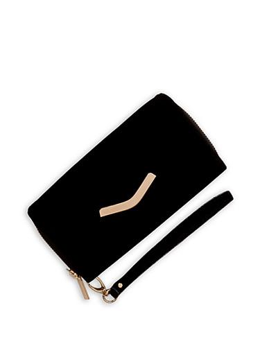 Velvet Envelope Wallet,BLACK,large