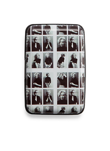 Graphic Cardholder Wallet with Marilyn Monroe Print,MM,large