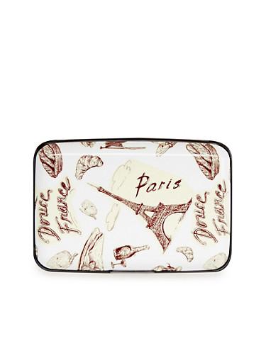 Card Holder Wallet with Parisian Print,PARIS,large
