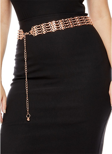 Chain Link Belt,ROSE,large