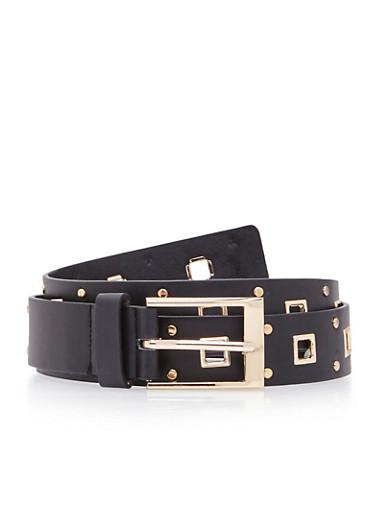 Grommet Belt,BLACK,large