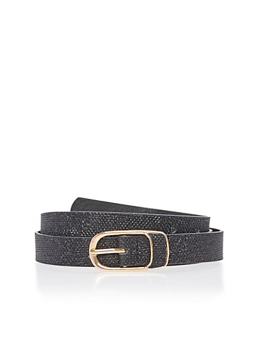 Glitter Belt,BLACK,large