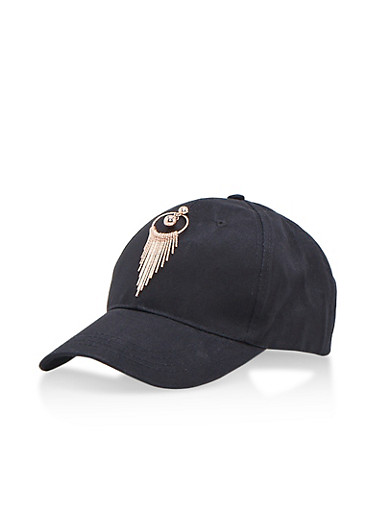 Dream Catcher Baseball Hat,BLACK/ROSE GOLD,large