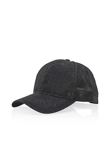 Lurex Baseball Hat,BLACK,large