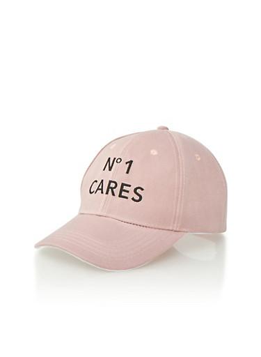 No1 Cares Snapback Hat,BLACK/PINK,large