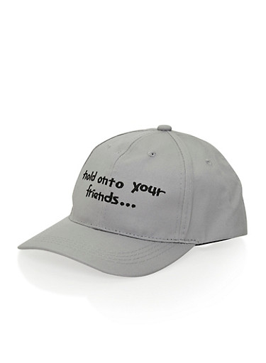 Hat with Hold Onto Your Friends Design,GRAY /BLK,large