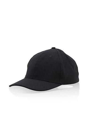 Solid Baseball Hat,BLACK,large