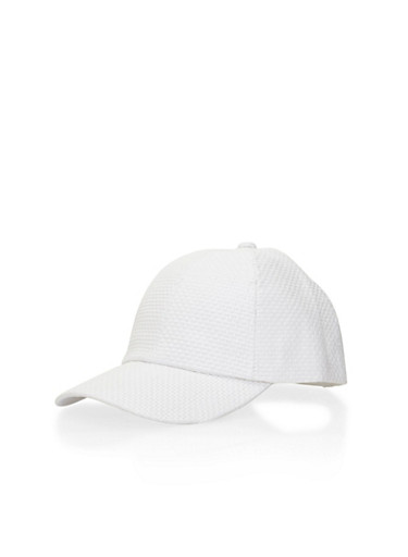Straw Baseball Cap,WHITE,large