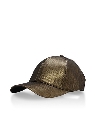 Iridescent Baseball Cap,BLACK,large