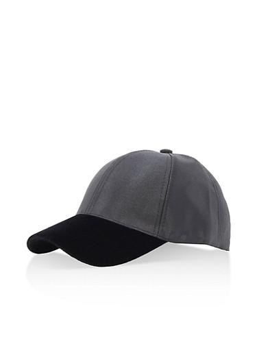 Velvet Satin Baseball Cap,BLACK,large