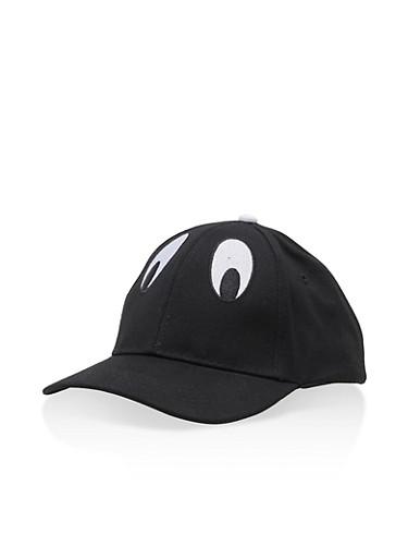 Eye Graphic Baseball Cap,BLACK/WHITE,large