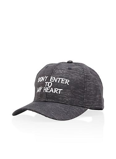 Dont Enter Trucker Hat,BLACK,large