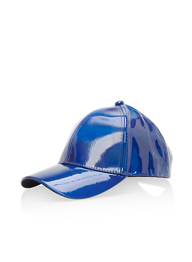 Holographic Baseball Hat,BLUE,large