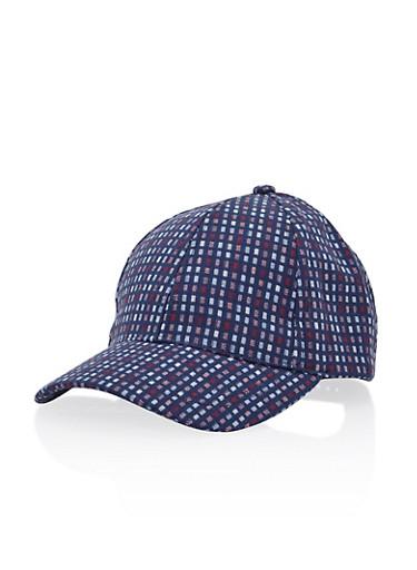 Baseball Hat in Geo Print,BLUE,large