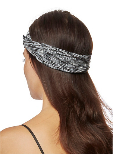 Space-Dye Headband with Knotted Accent,GREY,large
