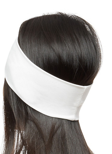 Set of 2 Solid Headwraps,IVORY,large