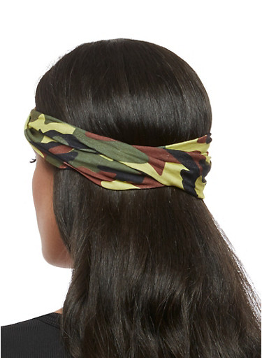 Camo Print Head Wrap,BROWN,large