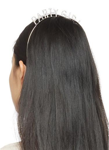 Party Girl Rhinestone Headband,SILVER,large