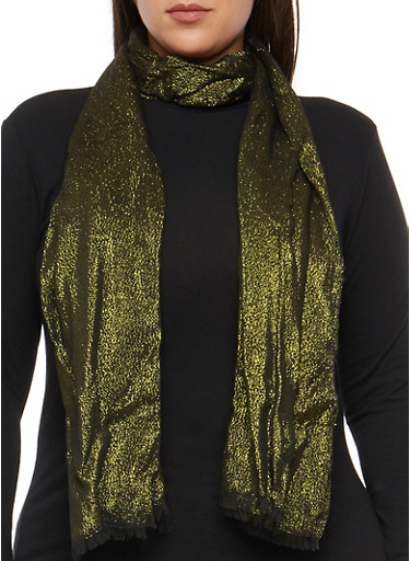 Shimmer Knit Scarf,BLACK/GOLD,large