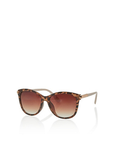 Square Sunglasses with Tinted Lenses,TORT/BLUSH,large