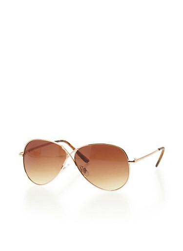 Figure 8 Aviator Sunglasses,GOLD,large