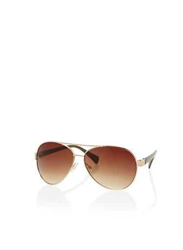 Classic Aviator Sunglasses,OLIVE,large