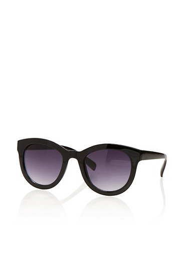 Thick Frame Sunglasses,BLACK,large