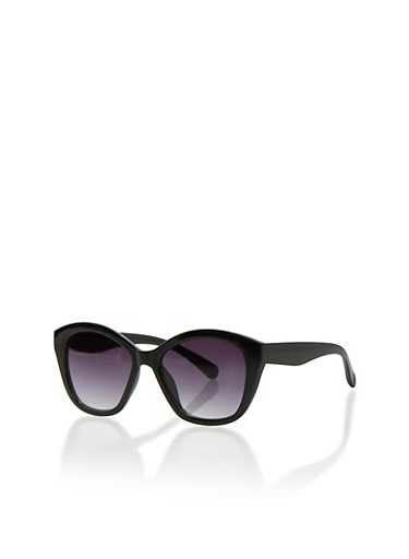 Square Sunglasses with Colored Frames,BLACK,large