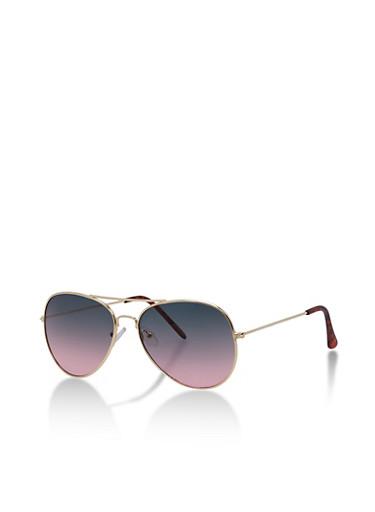 Aviator Sunglasses with Metallic Top Bar,BLACK,large
