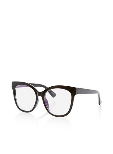 Large Cat Ear Glasses,BLACK,large