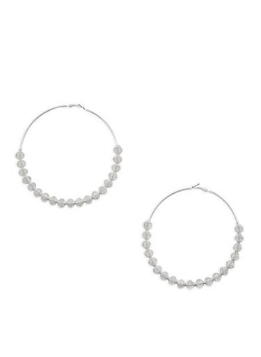 Large Coiled Hoop Earrings,SILVER,large