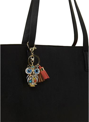 Owl and Tassel Bag Charm,MULTI COLOR,large