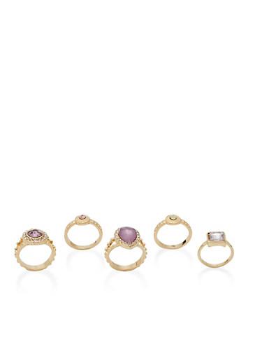 Rhinestone Rings,MAUVE,large