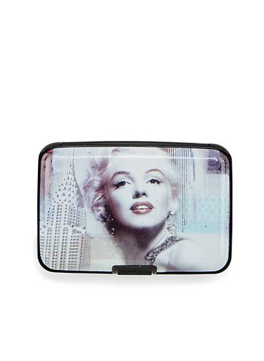 Card Holder Wallet with Marilyn Monroe Print,M EMPIRE STATE,large