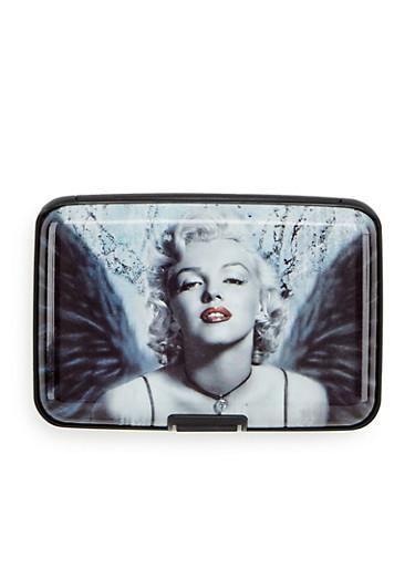 Card Holder Wallet with Marilyn Monroe Print,M WINGS,large