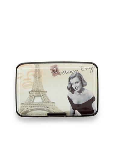 Card Holder Wallet with Marilyn Monroe Print,EIFLE TWR,large