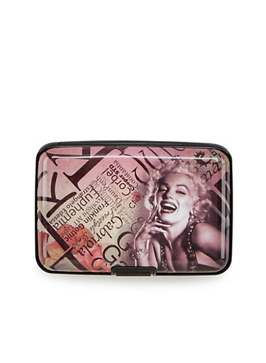 Card Holder Wallet with Marilyn Monroe Print,M MAGAZINE,large