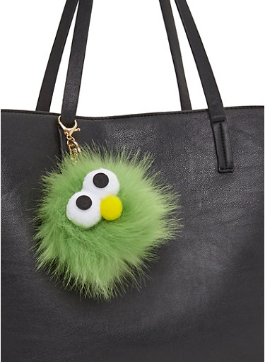 Googly Eye Pom Pom Keychain,JADE,large