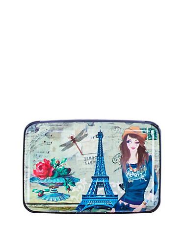 Paris Rose Accordion Card Wallet,MULTI COLOR,large