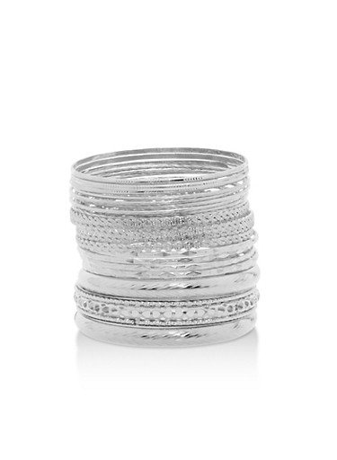 Plus Size Textured Bangles Set at Rainbow Shops in Daytona Beach, FL | Tuggl
