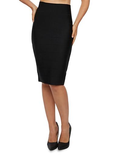 Bandage Midi Skirt,BLACK,large