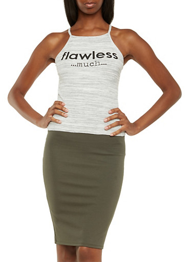 Space-Dye Top with Flawless Much Graphic,HEATHER,large