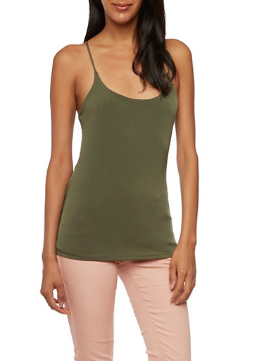 T-Back Tank Top,OLIVE,large