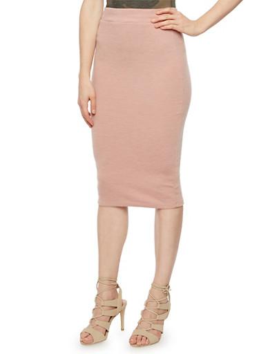 Ribbed Midi Skirt,MAUVE,large