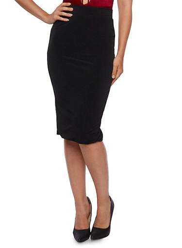 Bodycon Midi Skirt,BLACK,large
