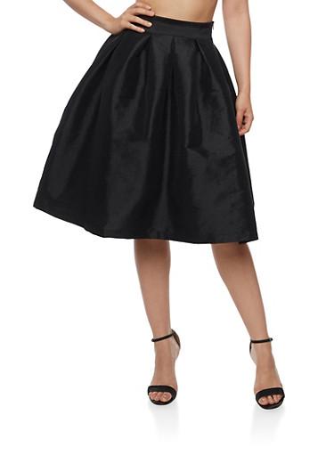Taffeta Skater Skirt,BLACK,large