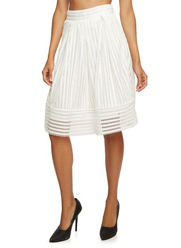 Full Eyelet Skirt,WHITE,large
